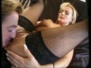 Horny blonde mature fucking
