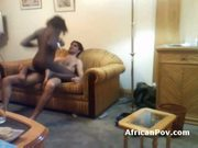Interracial fuck with slim african girl in amateur video
