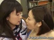 Futanari with schoolgirl!