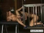 Katja Kassin - Lesbian Sex In A Cage