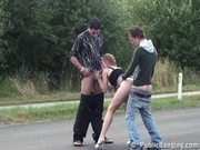 Threesome on the Middle of the Road