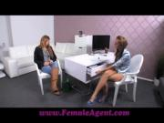 FemaleAgent Shy girl turns into insatiable lover