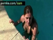 Samantha Gauge in a swimmingpool