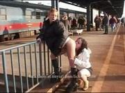 Piss drinking in public
