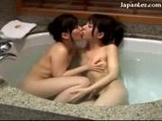Cute Girls Kissing Sucking Nipples In The Bath