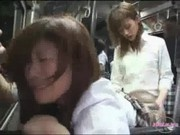 Schoolgirl Sucking And Fucked With Strapon On The Bus Squirting While Fingered