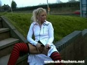 Blonde uk pornstar crystel leis public flashing and wild pus