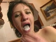 Throat Filled With Cock