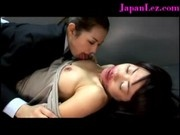 Bizarre Black Dildo Asian Lesbian Banging