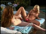 Two Blondes Fuck Each Other By Pool