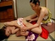 2 Slim Girls In Kimonos Licking Fingering Pussies Kissing On The Floor
