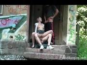 Nicole public railway threesome Part 4 of 5