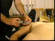 Masked amateur slaves needles pain