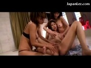 Asian Girl Getting Her Tits Rubbed Licked Patting Pussy Fingered By 2 Girls On The Floor