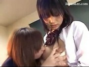 Redhead Schoolgirl In Uniform Sucking Nipples Getting Her Tits Rubbed Pussy Licked In The Classroom