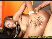 Doggy style with Nyomi Banxx ebony couple