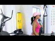 Hot teen nailed in gym