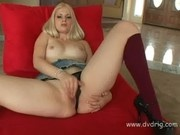 Blonde Wonder Charlotte Stokely Rubbs Her Muff So Hard Juice Leaks On Floor