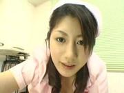 Creamy asian nurse pussy