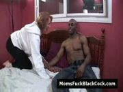 Redhead granny miss nono gets cumshot from black cock