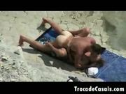 Couple make sex on a nudism beach - amador casal transando n