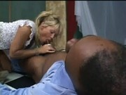 Blonde Slut Christie Working Her Mouth For Some Cash at Gag School