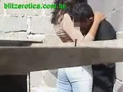 Spycam - fucking hot brunette in the construction
