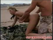 Alanna Evans pussy licking and fuck in the desert