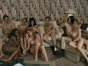 Big tits ebony Sierra gets attends an orgy