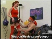 Feminization and strapon sex