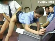 Flight stewardess rare work