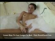 Ashley bathing