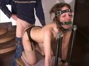 slave  bounded gagged and raped in the ass