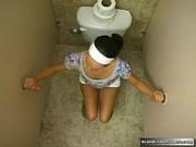 Teen Gets Two Cumshots for Bathroom