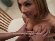 Blond with big tits gets fucked hard