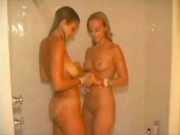 Amateur teens showeing together