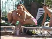Lesbians hunting voyeur