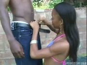 Outdoor fuck with a big black cock - big ass bitches