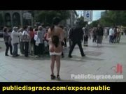 Outdoor euro slave public dogging