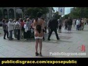 Outdoor euro slave public dogging