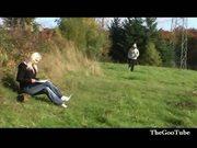 Der assi-jogger vollgepisst and vollgewichst