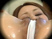 Young fashion model massaged to orgasm by health massager 2