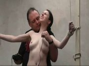 Interrogation torments and electro bdsm of tied slavegirl em