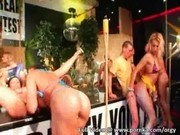 Incredibly Hot Babes in Beauty Pagent Start Huge Orgy at Night Club