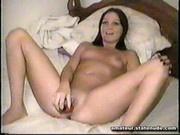 Girlfriend Masturbates and sucks on Film Tape