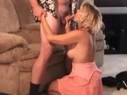 Busty mature ride cock on the couch