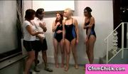 British cfnm femdom ladies give guy handjob