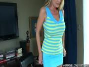 Hot MILF Olivia Parrish tit fucks and sucks in POV