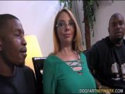 backstage MILF babe Kiki Daire Gets Interviewed at DogFart