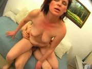 Russian Mature Mom Adaline Fucking a Young Guy